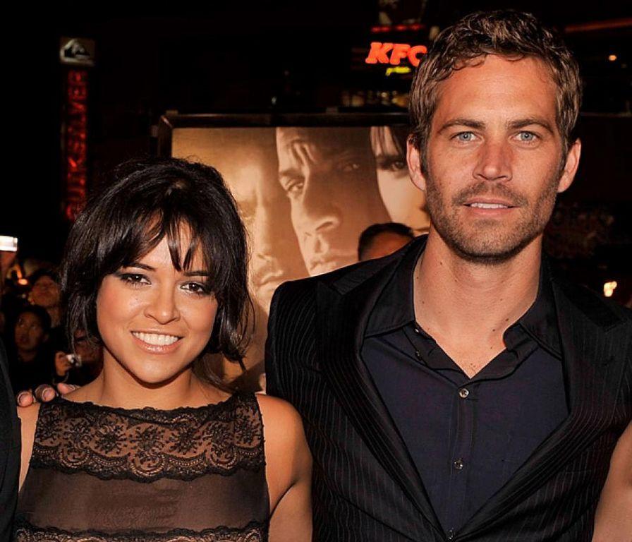 Michelle Rodríguez y Paul Walker en los cines Universal CityWalk en 2009.