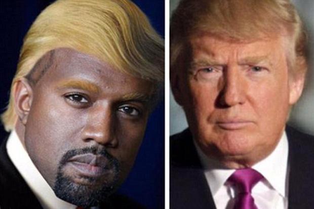 Kanye fue comparado con Donald Trump, uno de los candidatos más polémicos.