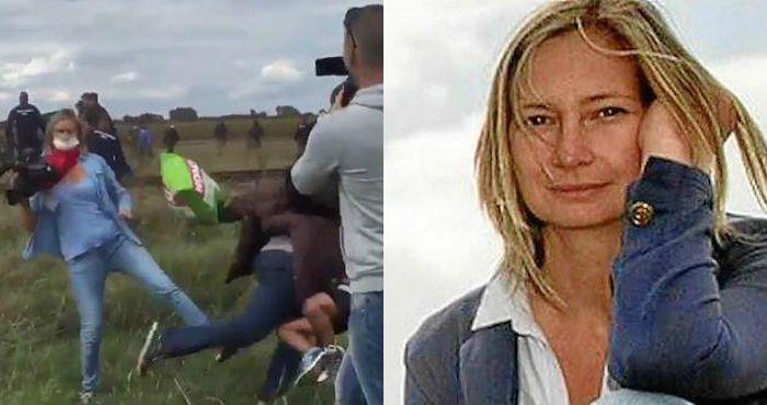 Reportera húngara reconoce que pateó a refugiados, pero no pide perdón ni da explicaciones