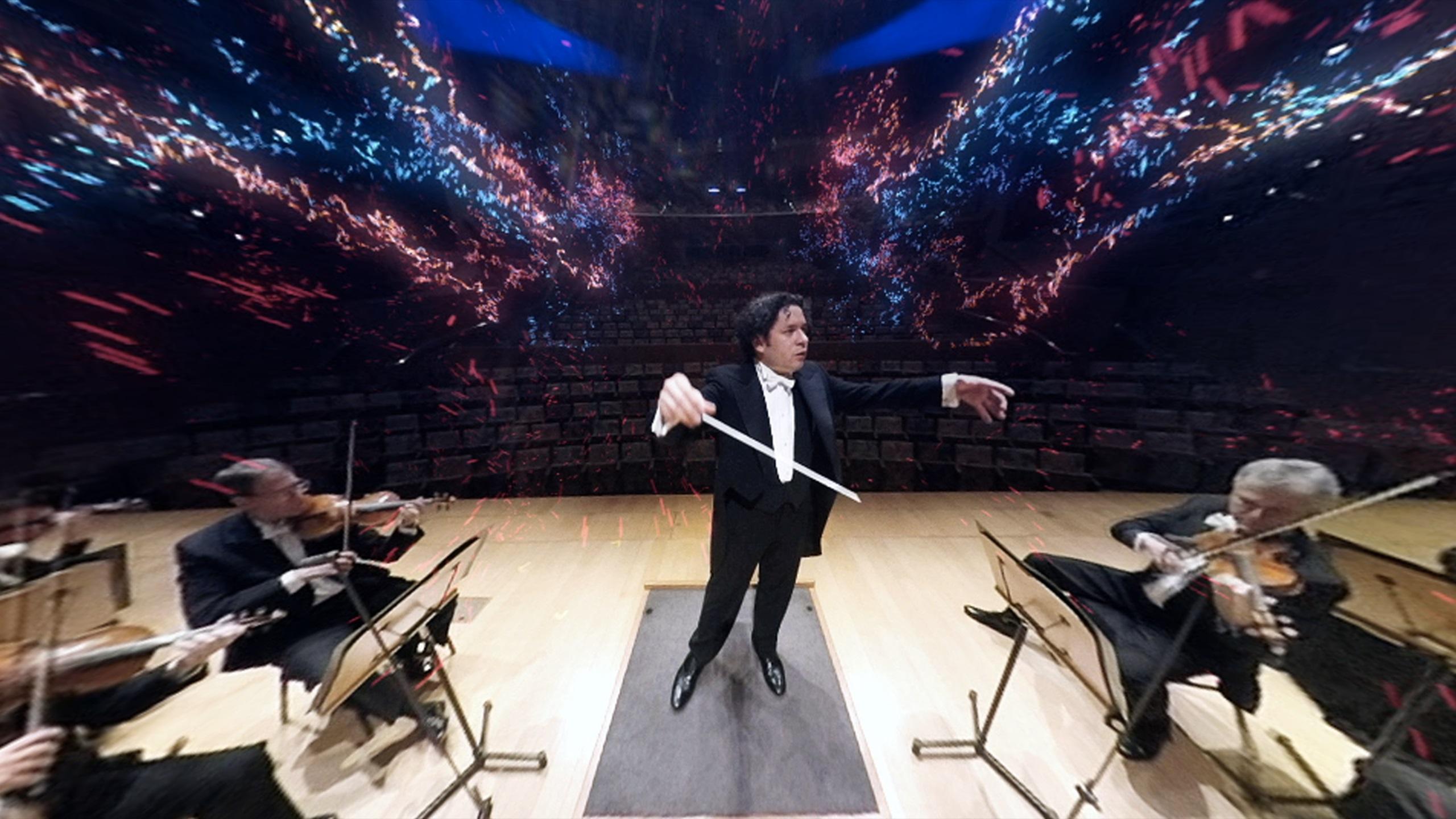 VAN Beethoven ofrece un concierto en realidad virtual en un camión, con Gustavo Dudamel dirigiendo a la Filarmónica de LA.