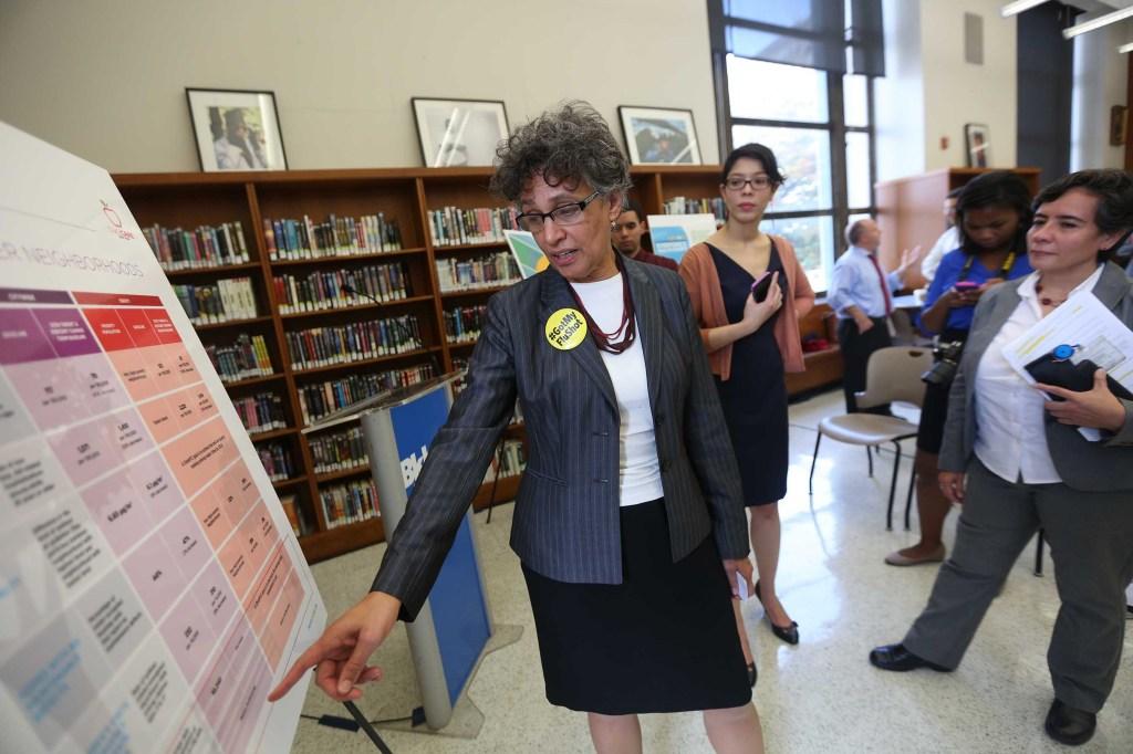 """La comisionada de Salud, Mary Bassett presenta """"Take Care New York 2020"""" para mejorar la vida de los residentes.La comisionada de Salud, Mary Bassett presenta """"Take Care New York 2020"""" para mejorar la vida de los residentes."""