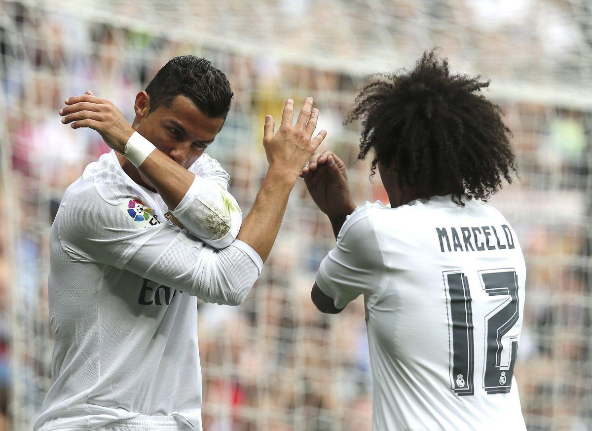 Gran conexión Marcelo-Cristiano: golazo y celebración del dúo blanco
