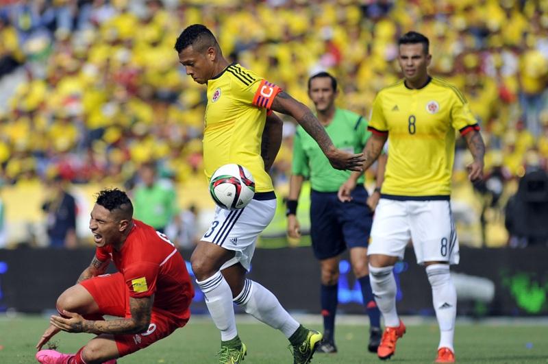 Freddy Guarin durante el partido ante Perú.