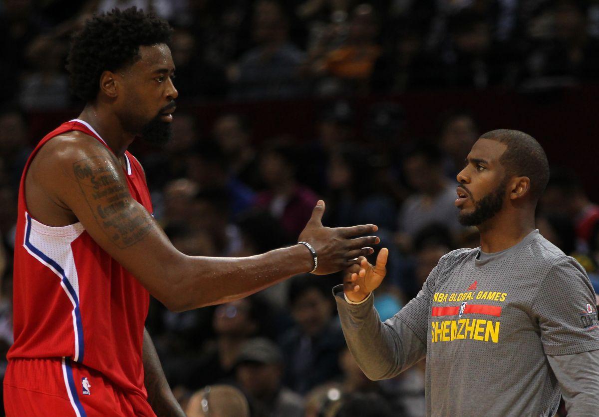 """DeAndre Jordan y Chris Paul constituyen dos terceras partes del """"Big Three"""" de los Clippers. Blake Griffin los complementa."""