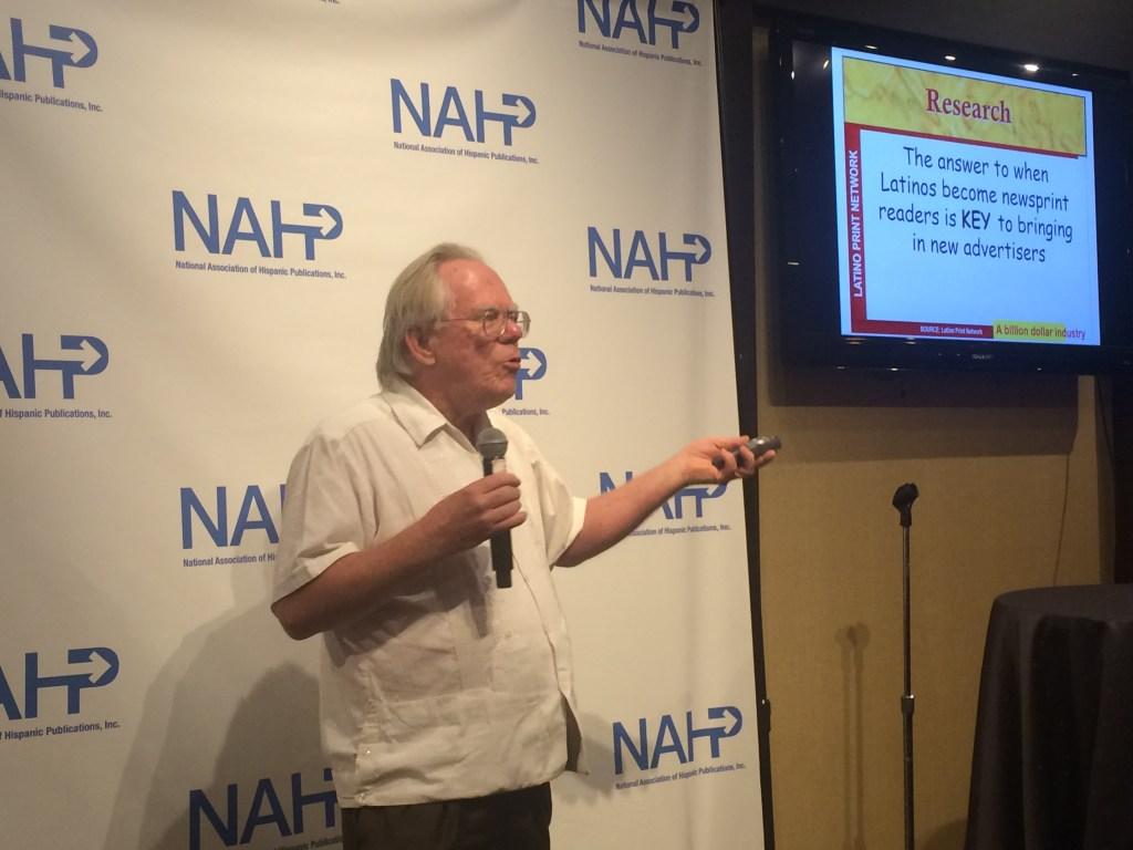 Kirk Whisler, uno de los fundadores de la NAHP, durante la convención.