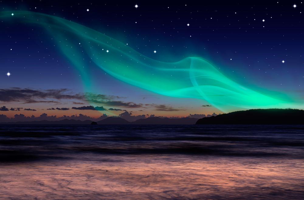 """Así """"danzan"""" las ballenas durante la aurora boreal (video)"""