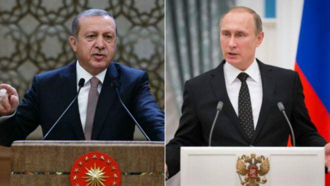 El presidente turco Recep Tayyip Erdogan y el ruso Vladimir Putin intercambiaron duras acusaciones esta semana tras el derribo de un bombardero ruso.