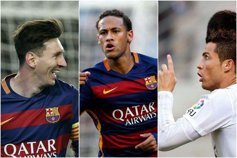 Neymar se mete entre Messi y Cristiano en la lucha por el Balón de Oro 2015