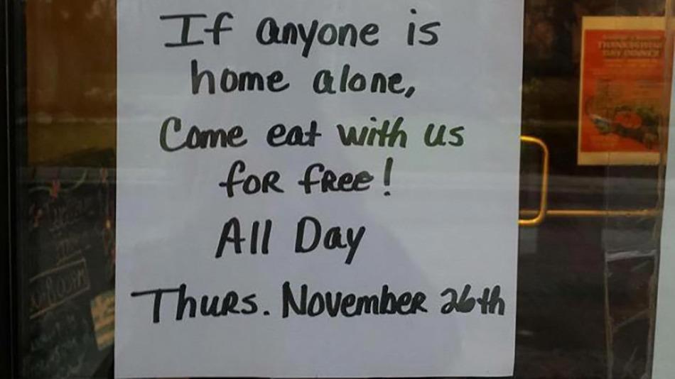 El anuncio del restaurante en Michigan se hizo viral en las redes sociales.