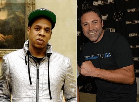 Jay Z y Oscar de la Hoya.