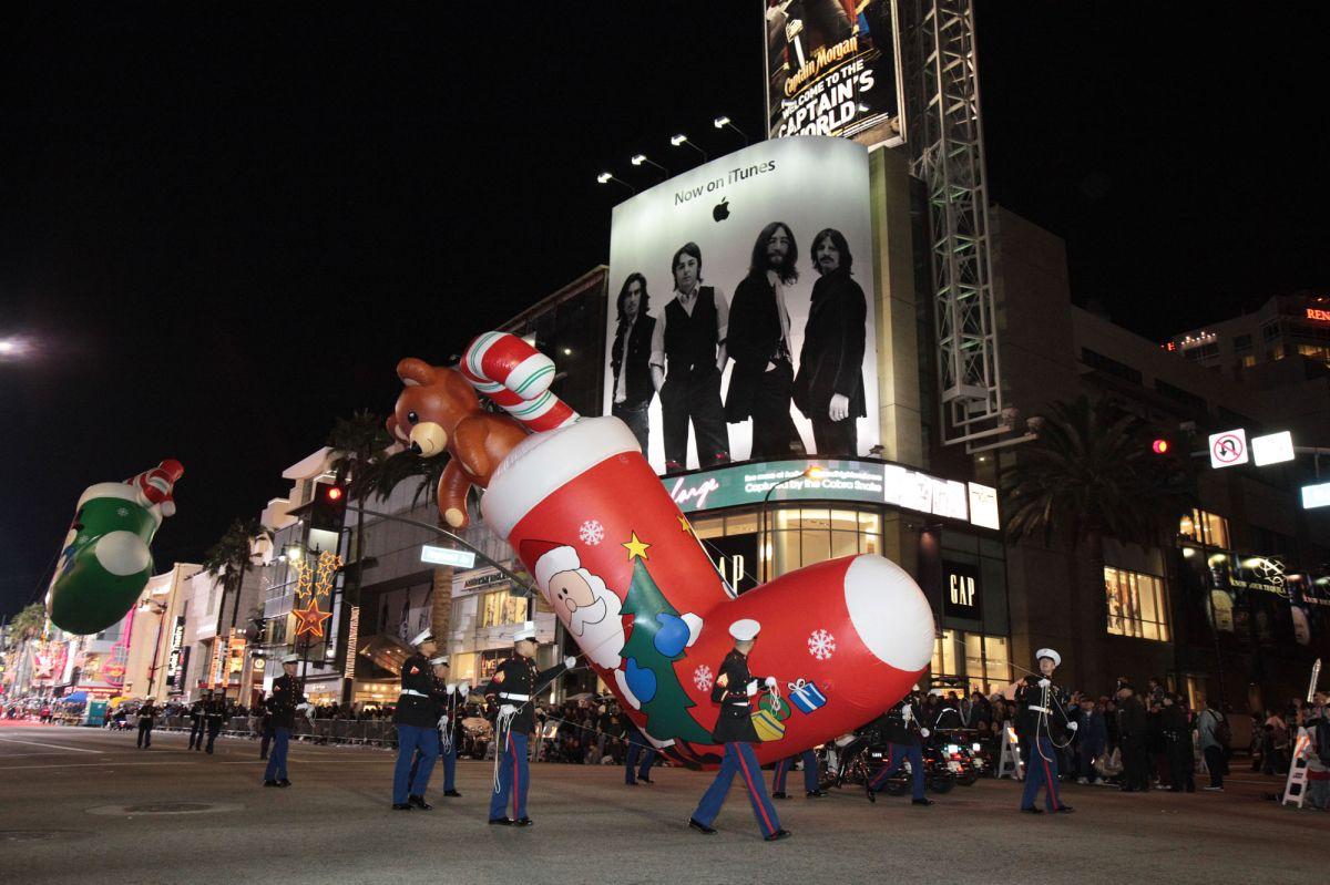 El desfile de Navidad en Hollywood es toda una tradición.