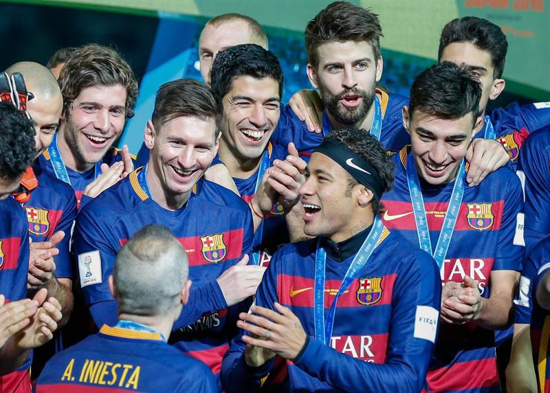 El Barcelona festeja el tercer título en Mundial de Clubes.