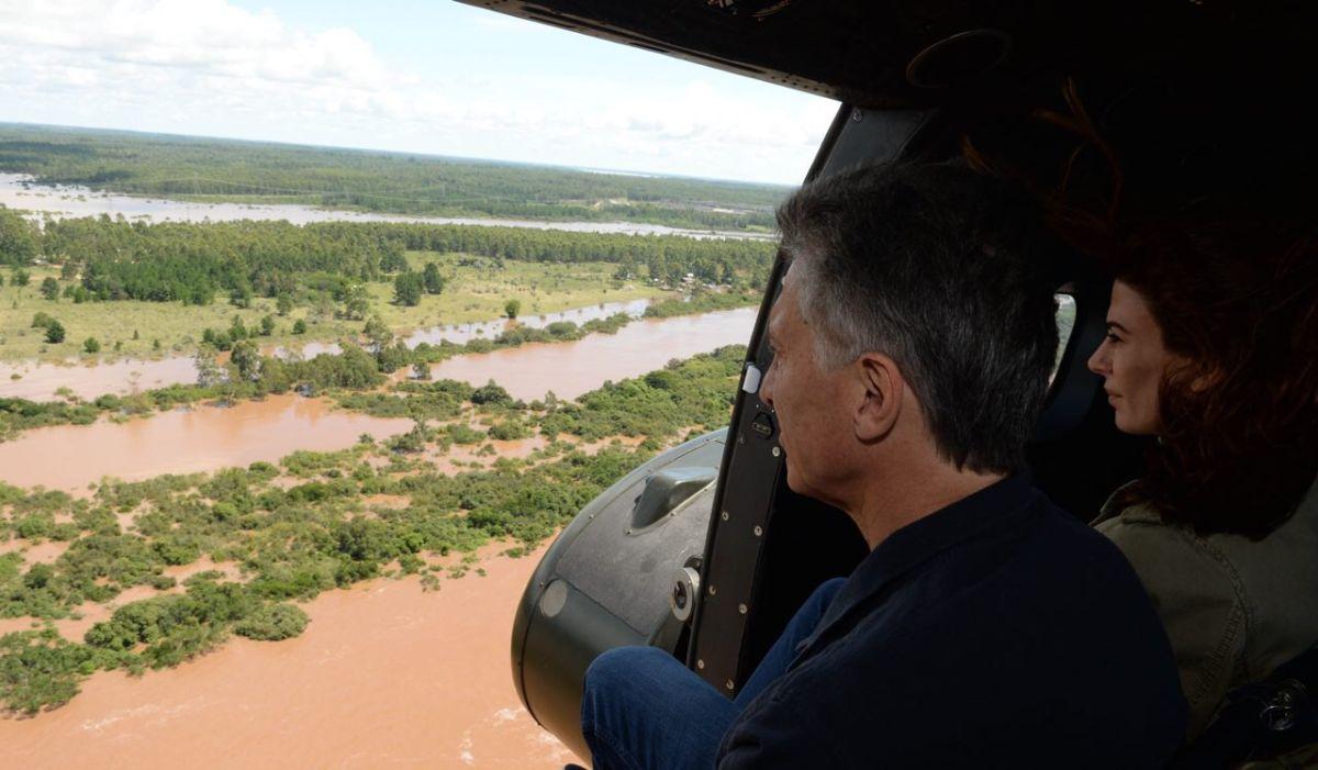 Macri promete ayuda a víctimas de inundaciones