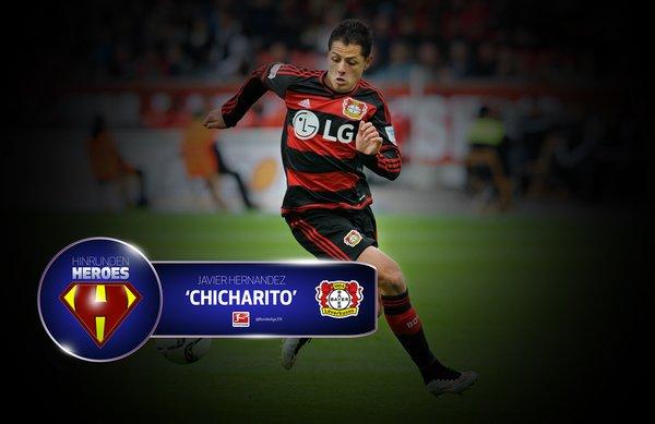 La Bundesliga destaca el poder goleador de Chicharito a mitad de temporada