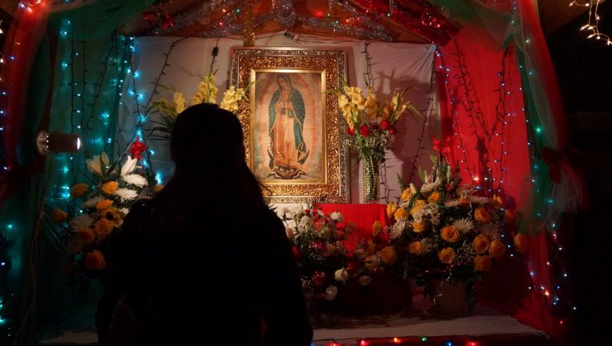 Llevan a la Virgen de Guadalupe a frontera México-EEUU para rezar por indocumentados