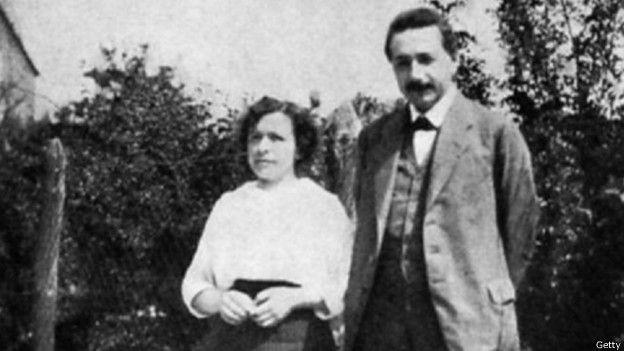 Albert Einstein y su primera esposa Mileva Maric. La pareja estuvo casada 16 años.