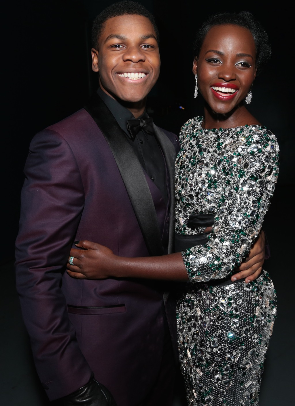 John Boyega y Lupita Nyong'o, dos de las nuevas estrellas de la saga.