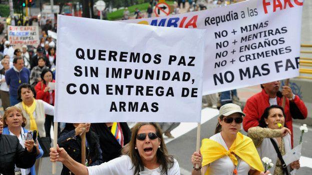 En Colombia hay quienes se oponen a que se firme un acuerdo de paz sin imponer condenas de cárcel a la cúpula de las FARC. Pero Márquez insiste en que eso es parte de una jurisdicción que involucra a todos los participantes del conflicto.