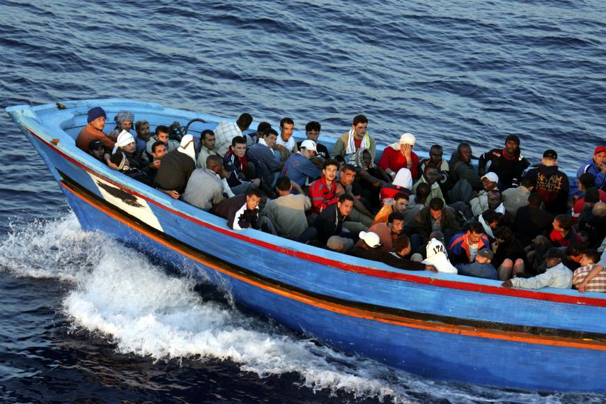 Lampedusa, Italia, es una entrada principal para las personas procedentes de África.
