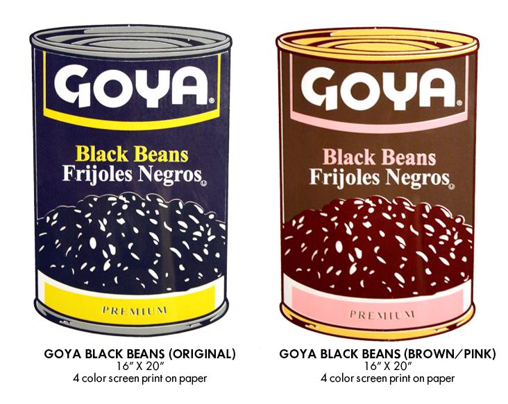 Las latas al estilo Warhol pero con un toque hispano.