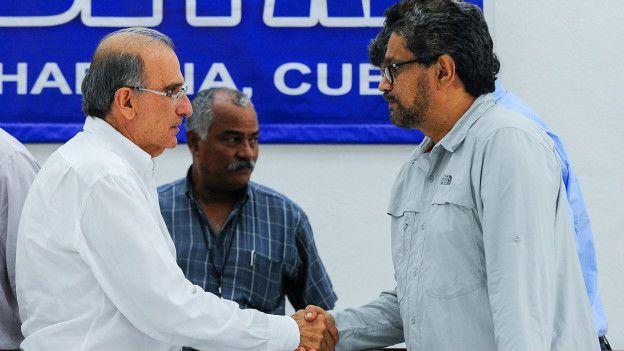 Márquez conversó con BBC Mundo poco después de lograr un acuerdo sobre reparación y justicia con el gobierno.
