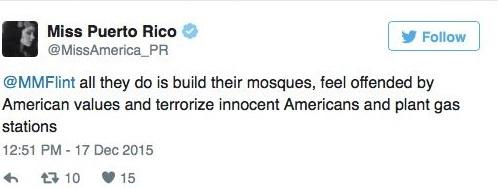 Uno de los mensajes en Twitter que causaron la polémica.