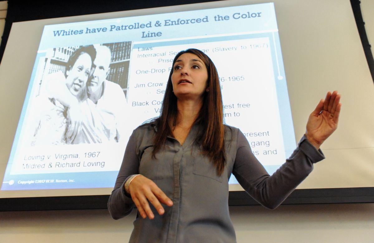 Dr. Rebecca Romo, Assistant Professor, Sociology, in Santa Monica College.