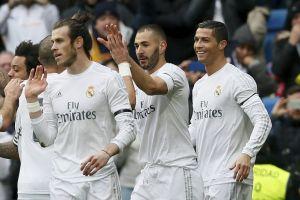 Cristiano, Bale y Benzemá encabezan nueva goleada del Real Madrid
