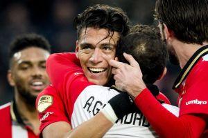 Doblete de Moreno y asistencias de Guardado le dieron el triunfo al PSV