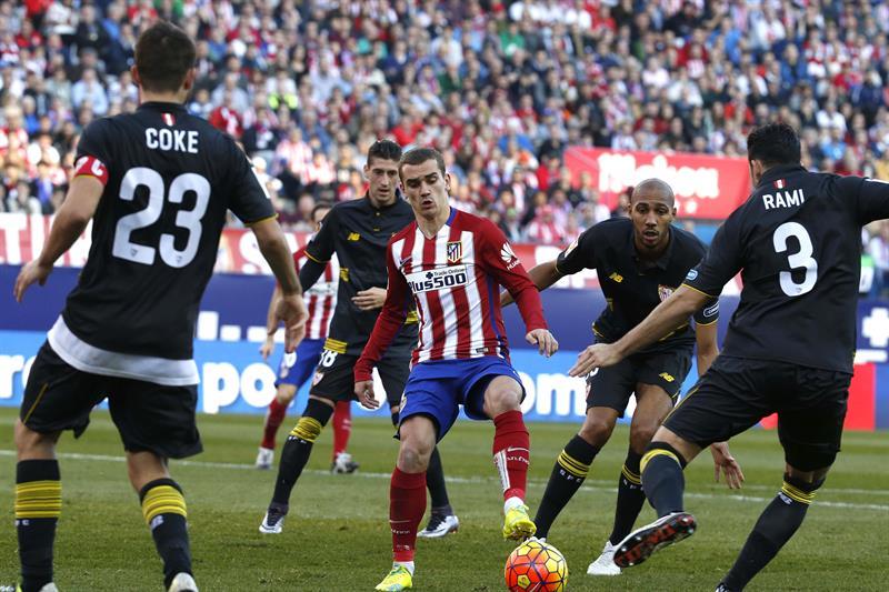 Sevilla frenó el ascenso a la cima del Atlético de Madrid