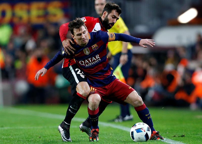 Barcelona eliminó al Athletic de Bilbao en los cuartos de final de la Copa del Rey. Foto: EFE.
