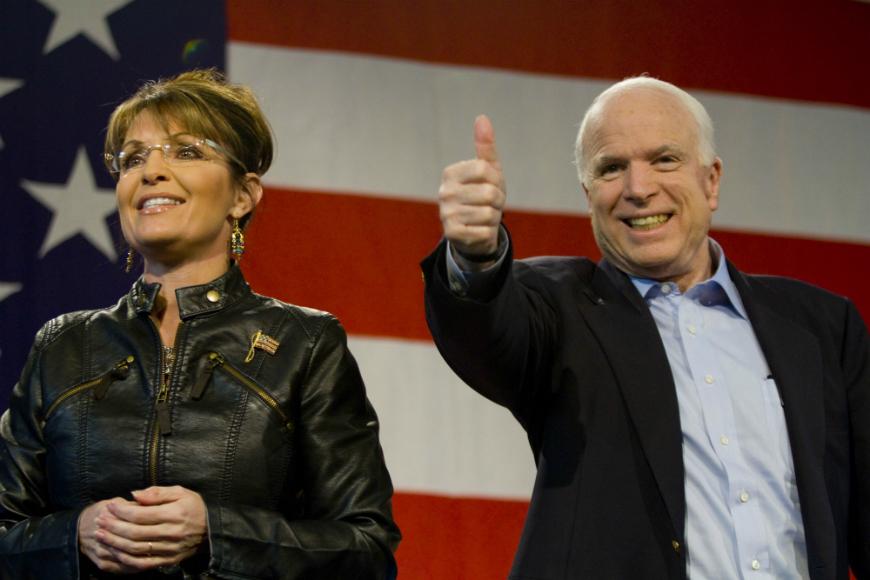 Palin fue responsabilizada, en parte, de la derrota de la capaña de John McCain ante Barack Obama, en 2008.