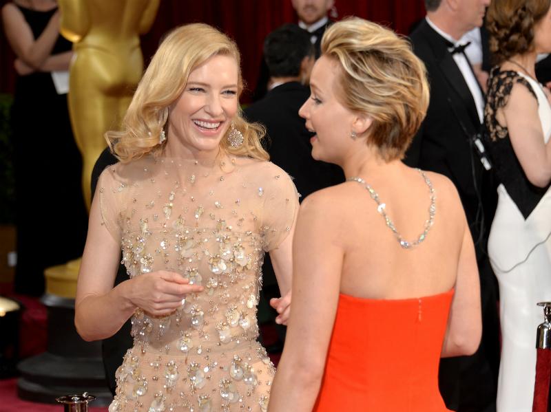 Cate Blanchett y Jennifer Lawrence 86th Oscars