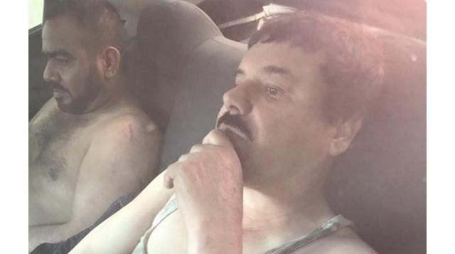 """Imagen de supuesta recaptura de """"El Chapo""""."""