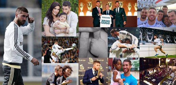 El error en Twitter de Sergio Ramos: en su saludo de fin de año puso una foto del hijo de Messi