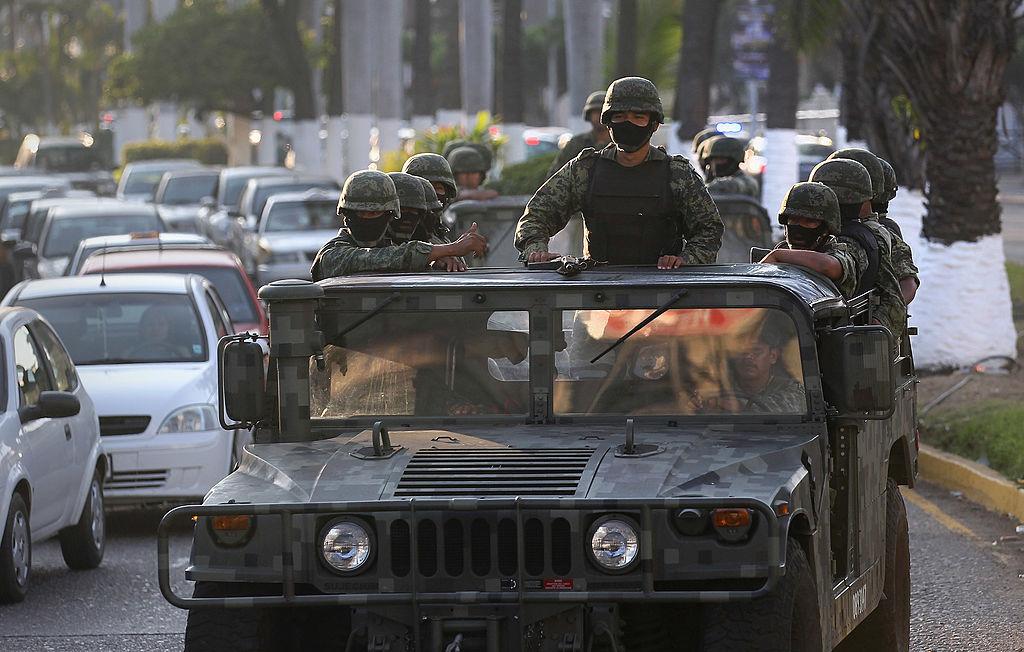 El ejército se mantiene varias localidades del estado de Guerrero. John Moore/Getty Images