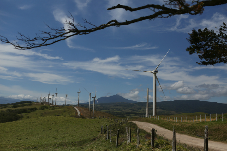 Costa Rica ha ampliado su diversidad de fuentes de suministro, invirtiendo sobre todo en geotérmica y en eólica.