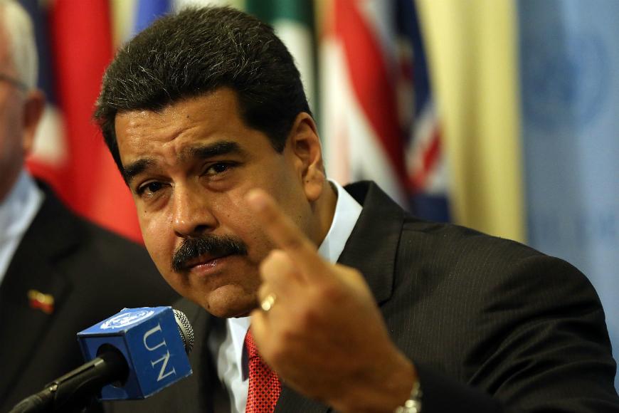 El presidente Nicolás Maduro acusa a EEUU de intervenir en los asuntos internos de Venezuela.