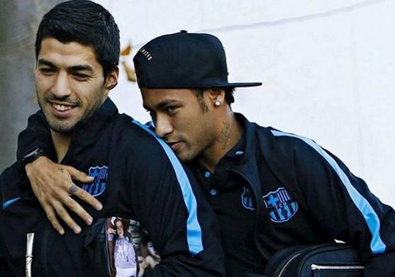La mimosa felicitación de Neymar a Luis Suárez que desató las burlas en Twitter