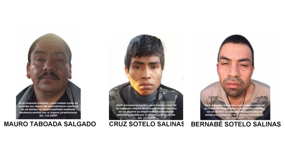 Consigados por porte de armas tres sospechosos del caso Ayotzinapa