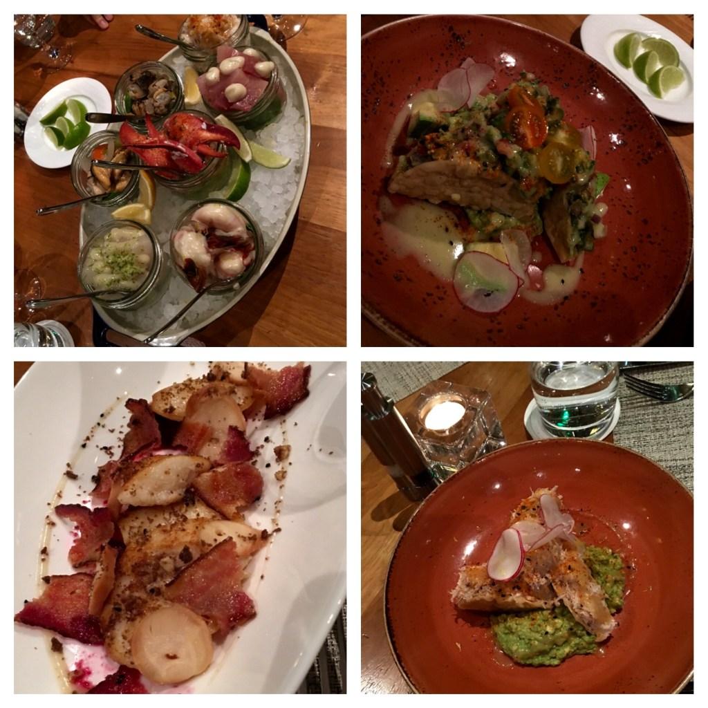Yew presenta un menú único de pescado y mariscos.