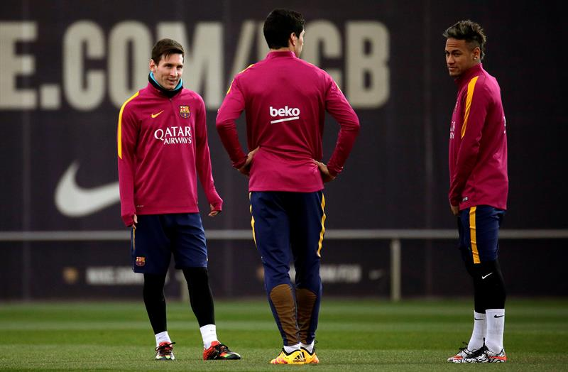 Lionel Messi volvió a entrenar con el Barcelona. Foto: EFE.
