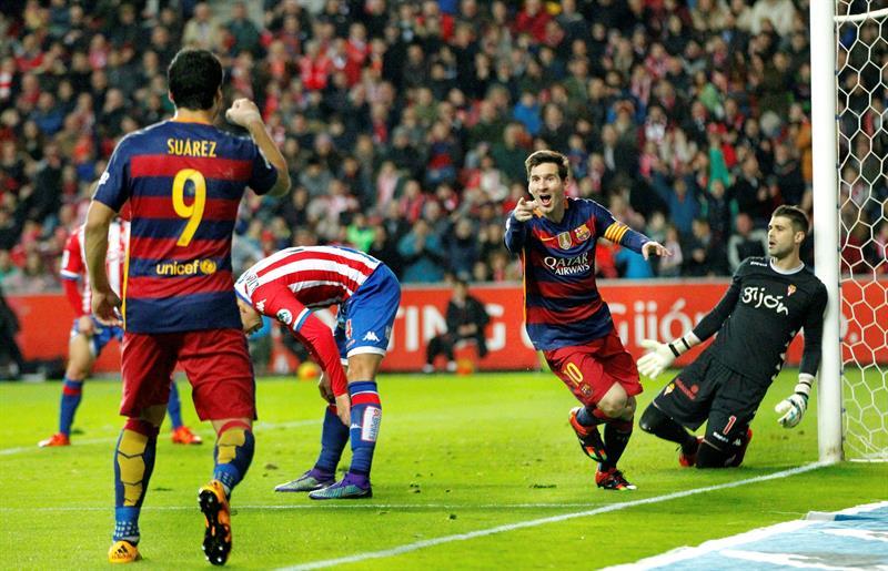 Lionel Messi llegó este miércoles a su gol 301 en La Liga de España.