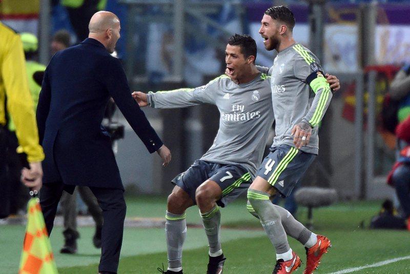El festejo de Cristiano con Zinedine Zidane recordó a aquellos con el Real Madrid de Ancelotti.