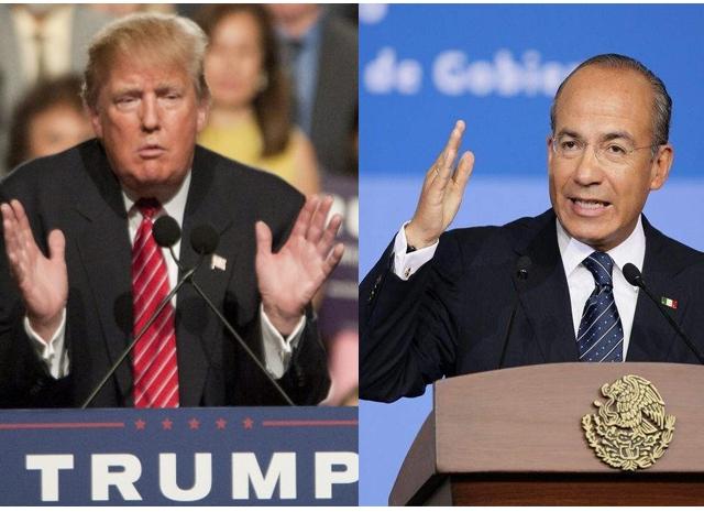 Calderón: México no pagará un solo centavo por el estúpido muro de Trump