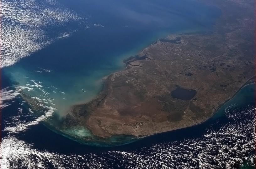 Lago Okeechobee, como se ve desde la Estación Espacial Internacional.