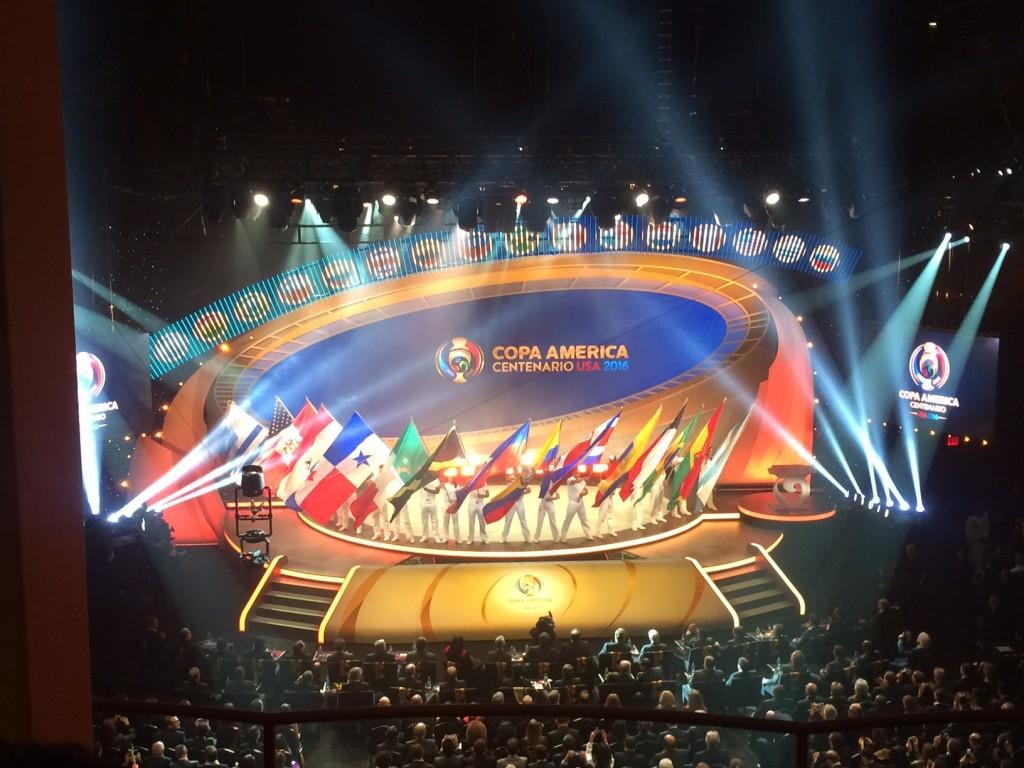 El Hammerstein Ballroom, en Manhattan, fue el escenario del sorteo de la Copa América Centenario USA 2016.