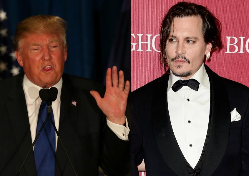 Johnny Depp se mete en la piel (y el pelo) de Donald Trump (video)