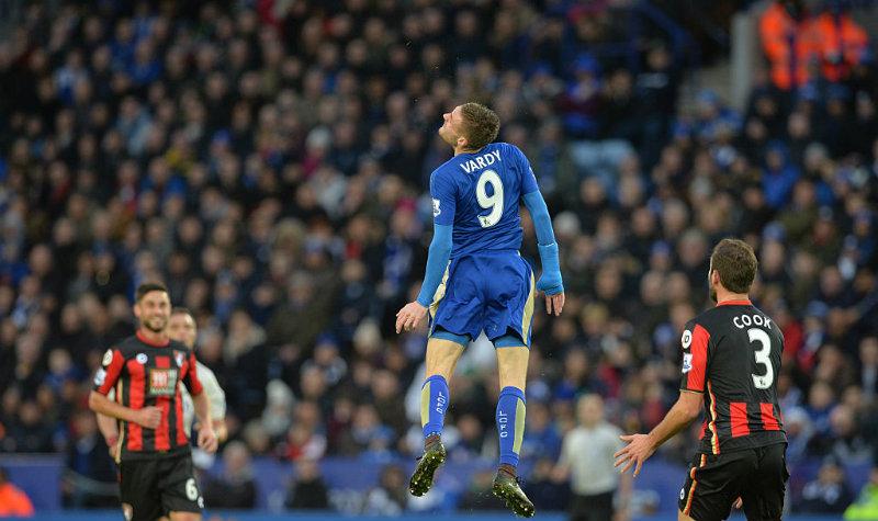 Jamie Vardy se ha convertido en el héroe para la afición del Leicester.