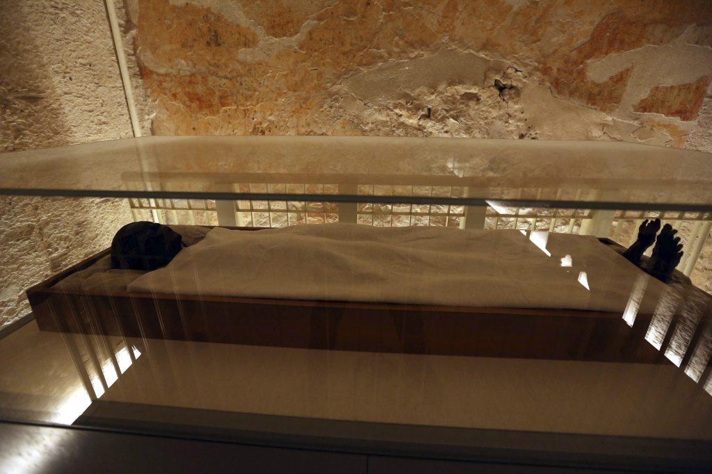 El ministro egipcio de antigüedades, Mamdouh al-Damati, ha ofrecido una rueda de prensa para presentar los resultados del escáner realizado en la tumba de Tutankamón